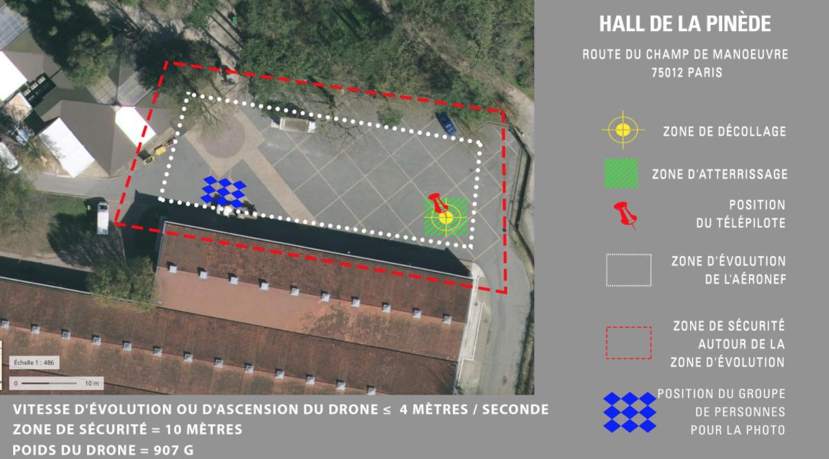 HALL DE LA PINÈDE – CARTE DRONE